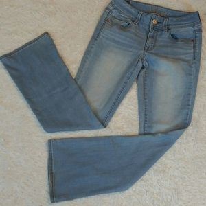 American Eagle Outfitters Kick Boot Blue Jeans